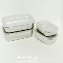BPA-freies Rechteck-Aufbewahrungsset für Lebensmittel stapelbarer Edelstahlbehälter mit Verschluss