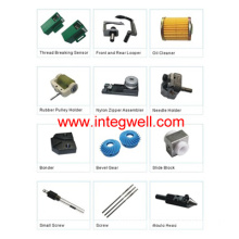 Spare parts of zipper sewing and forming machines