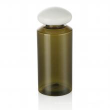 150ml green pet bottle plastic cap skincare bottle plastic cap with white plastic cap cosmetic packaging hot sale