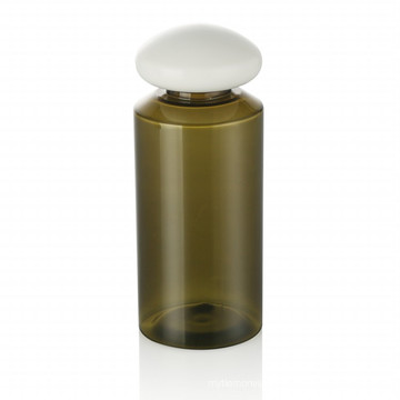 150ml green pet bottle plastic cap skincare bottle plastic cap with white plastic cap cosmetic packaging hot sale