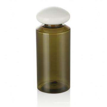 150 ml verde pet garrafa de plástico tampa de garrafa de skincare tampa de plástico com tampa de plástico branco de embalagens de cosméticos venda quente