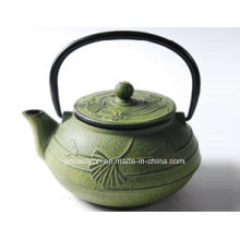 Green Cast Iron Teapot 0.6L