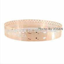 gridding hollow whole metal paillette belt lady's decoration belt Fashionable T stage primark dress apparel show