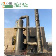 Torre de purificador de gás molhado para tratamento de pó de caldeira