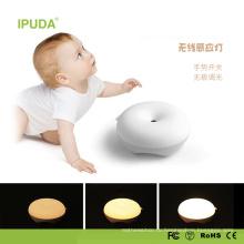 2017 уникальные Смарт-ночник для малыша с сенсорный Датчик света пончик дизайн