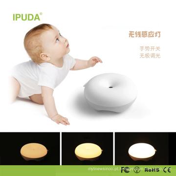 2017 Único Inteligente Luz Noturna para o bebê com design sensor de toque luz rosquinha