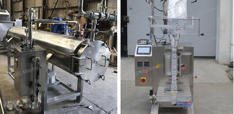 sterilization + package machine
