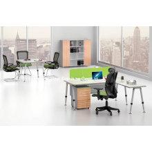 Модная стальная ножка с верхним офисным столом из меламина (BS-A06)
