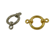 Novelty Design Metal Zinc Alloy Buckle Ring Button