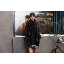 2016 nuevo estilo Best Sell Warm Popular Lady Fashion Black Scarf
