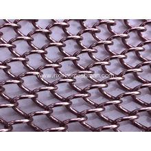 Decorative metal coil drapery