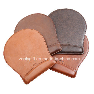 Quality Customized PU Leather Mouse Pad Embossed Logo Promotional Mouse Pad with Write Rest
