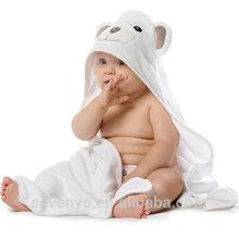 Ensemble de serviette et gant de toilette à capuchon en bambou bio pour bébé, nourrisson et tout-petit Ultra doux et épais - ours
