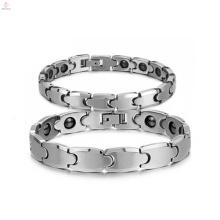 Haute qualité en gros argent Tungsten bracelet, bracelet en pierre magnétique de santé