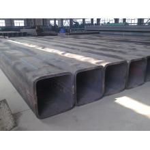 Tubo de aço quadrado com tinta preta 300mm