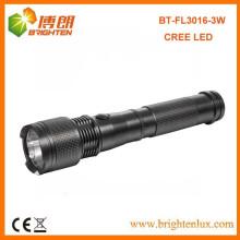 Factory Hot sale 2C Taille Batterie Extérieure Camping Metal Handheld Long Distance Beam cree 3w lampe de poche lampe de poche