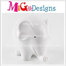 Wholesale Gift Cute Elephant Shaped Ceramic Coin Box