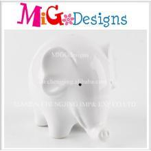 Prêmio por atacado de elefante bonito em forma de caixa de cerâmica cerâmica