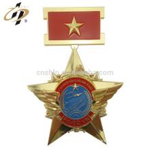 2018 promocional ouro gravado personalizado medalhões militares de metal