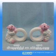 Küchenartikel keramische Papierservietten mit Schaffiguren