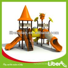 2014 Einzigartige Nahost-Stil Gebraucht Kinder Spielzeug im Freien mit Schloss Thema Kunststoff-Dach LE.CB.007
