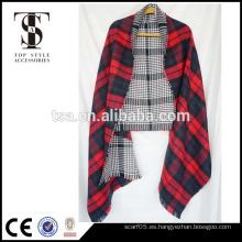 Bufanda de acrílico del invierno de la alta calidad 100% del precio bajo del mantón de la muchacha de gran tamaño para el regalo de la Feliz Navidad de la señora