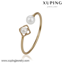 51781 xuping Wholesale 18k gold plated jewelry,elegant luxury pearl bangle