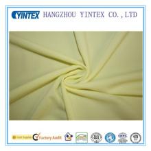 Tissu d'étirement en étirage en Lycra Spandex en étain jaune