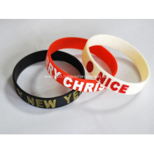 Personalized Filled Logo Silicone Bracelets