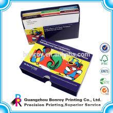 Children game card deck,kids flashing card game printing