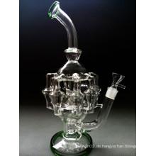 Grand Borosilicat Materia Glas Mothership Helix Recycler Perc Verwickelte Form Glas Rauchen Wasser Rohr
