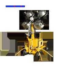 Torre de luz de mástil telescópico con haluro metálico de 4 * 1000W