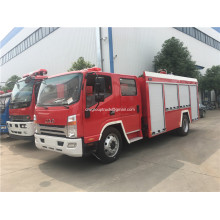 JAC single bridge combined powder foam fire truck