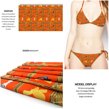 New Jersey Digital Check Printed Fabric for Swimwear and Garment
