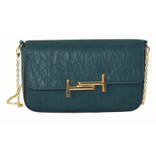 PU Fashion Metal Chain Clutch Bag (ZXL054)