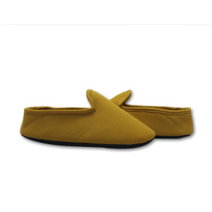 soft yellow hotel style slippers shoes