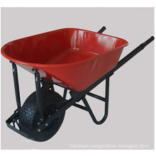 Wooden Handle with Big Tyre Wheel Wheelbarrow