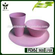 Экологически чистые Bamboo Fiber Свадебная посуда и Посуда Наборы 3pieces