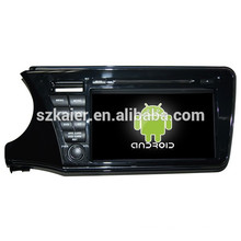 NEW!car dvd with mirror link/DVR/TPMS/OBD2 for 9002 inch 4.4 Android system Honda City 2014