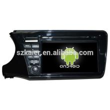 NOVO! Carro dvd com espelho link / DVR / TPMS / OBD2 para 9002 polegadas 4.4 Android sistema Honda City 2014