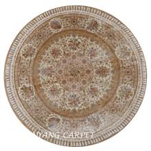 7.2'x7.2' Round Persian Rug Handmade