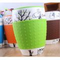 Nueva taza de cerámica del grano grande de la llegada 2016 con la tapa