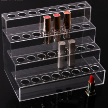 4 tiers acrylic riser lipstick counter display stand