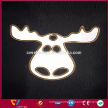 logo personnalisé double côté bouffi doux pvc réfléchissant porte-clé cadeau