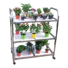 Factory directly provide for Greenhouse Sprinkler System Greenhouse Transport Foldable Metal Flower Trolley Cart export to Netherlands Wholesale