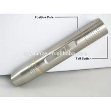 Aço inoxidável recarregável Jade testando lanterna, flash led light, 18650 lanterna de aço inoxidável