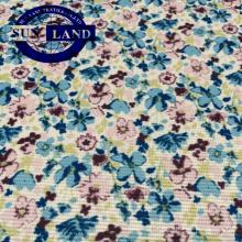 Fabriklieferant Druck Polyester Lycra Spandex elastische quadratische Treppe Tuch Handschuhe Stoff