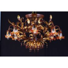 Traditional Flower Iron Crystal Hotel Pendant Lamp (cos9239)