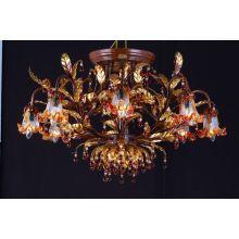 Tradicional flor de hierro de cristal Hotel lámpara colgante (cos9239)