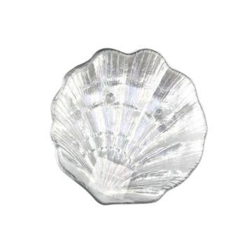 Стеклянные тарелки цвета морской ракушки